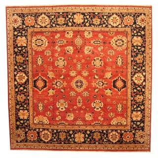 Herat Oriental Afghan Hand-knotted Vegetable Dye Oushak Wool Rug (14'3 x 14'6)