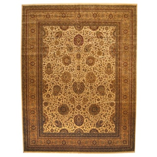 Herat Oriental Indo Hand-knotted Vegetable-dyed Tabriz Wool Rug (11'9 x 15'5)
