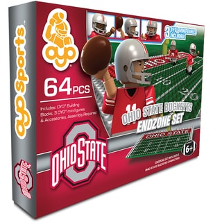 Oyo NCAA Ohio State Buckeyes 64-Piece End Zone Building Set