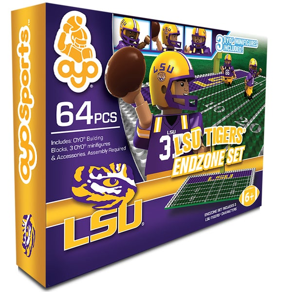 Oyo NCAA LSU Tigers 64-Piece End Zone Building Set