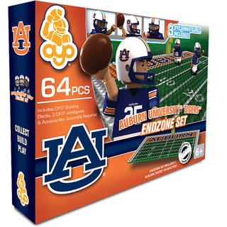 Oyo NCAA Auburn Tigers 64-Piece End Zone Building Set