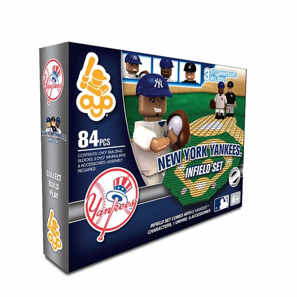 Oyo MLB New York Yankees 84-Piece Infield Building Set