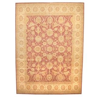 Herat Oriental Afghan Hand-knotted Vegetable Dye Oushak Wool Rug (11'5 x 15'7)
