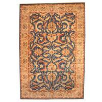 Handmade Herat Oriental Afghan Vegetable Dye Oushak Wool Rug (Afghanistan) - 11'10 x 17'7
