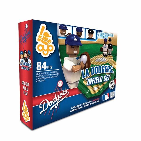 Oyo MLB Los Angeles Dodgers 84-Piece Infield Building Set
