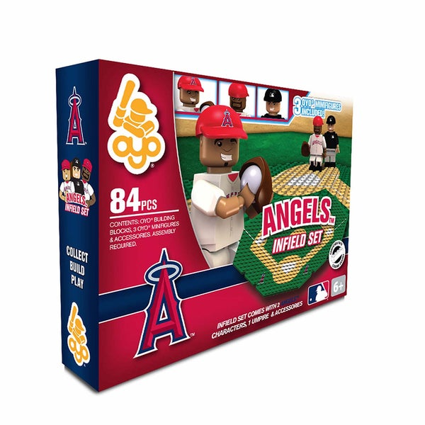 Oyo MLB Los Angeles Angels 84-Piece Infield Building Set