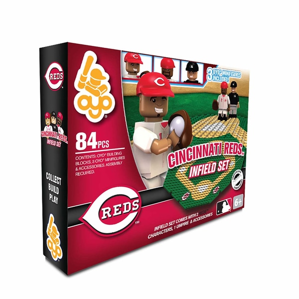 Oyo MLB Cincinnati Reds 84-Piece Infield Building Set