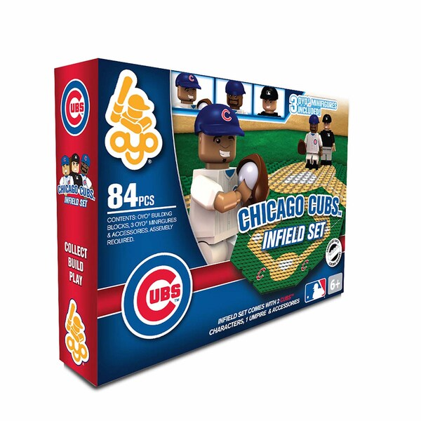 Oyo MLB Chicago Cubs 84-Piece Infield Building Set