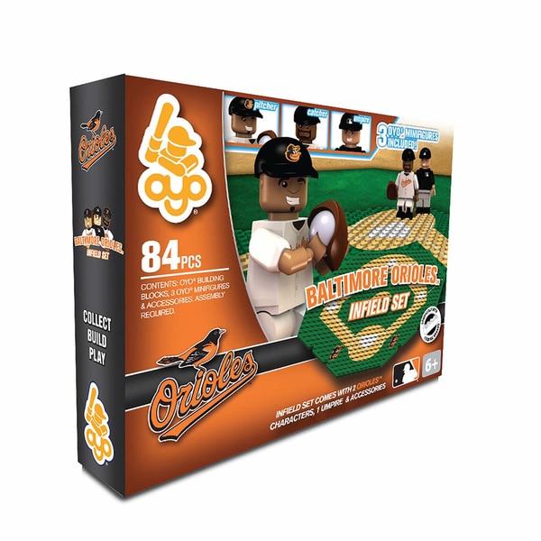 Oyo MLB Baltimore Orioles 84-Piece Infield Building Set