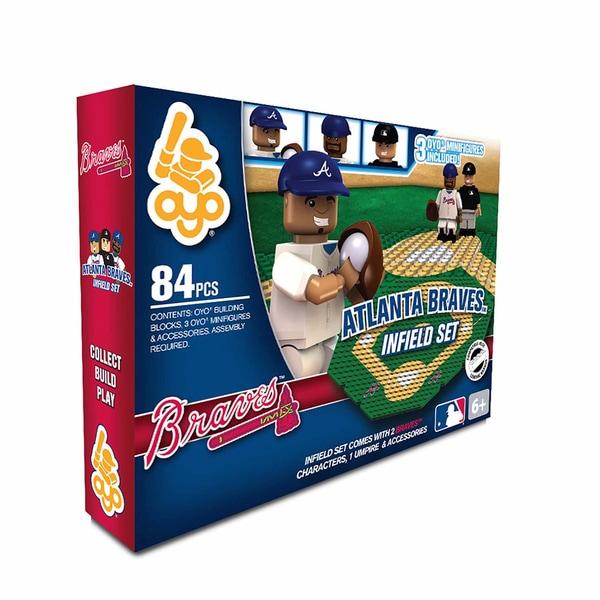 Oyo MLB Atlanta Braves 84-Piece Infield Building Set