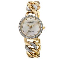 August Steiner Women's Quartz Diamond Alloy Gold-Tone Bracelet Watch - GOLD