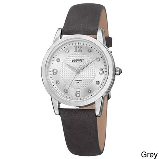 August Steiner Women's Quartz Diamond Leather Strap Watch (4 options available)