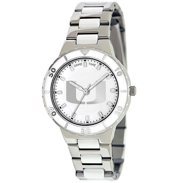 Game Time Miami Hurricanes Logo Pearl Watch