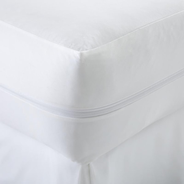 merit linens zippered bed bug mattress encasement white free shipping on orders over 45