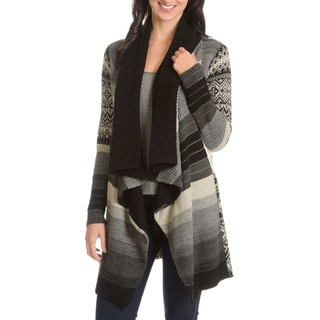 Chelsea & Theodore Women's Shawl Collar Open Cardigan