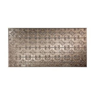 Fasade Traditional Style #2 Brushed Nickel Wall Panel (4'x8')