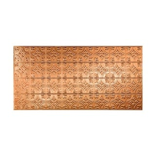 Fasade Traditional Style #2 Polished Copper Wall Panel (4'x8')