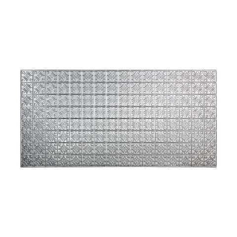 Fasade Traditional Style #1 Brushed Aluminum Wall Panel (4'x8')