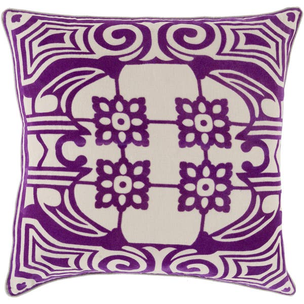 Decorative Allyson Floral 20 Inch Throw Pillow Overstock 10526829