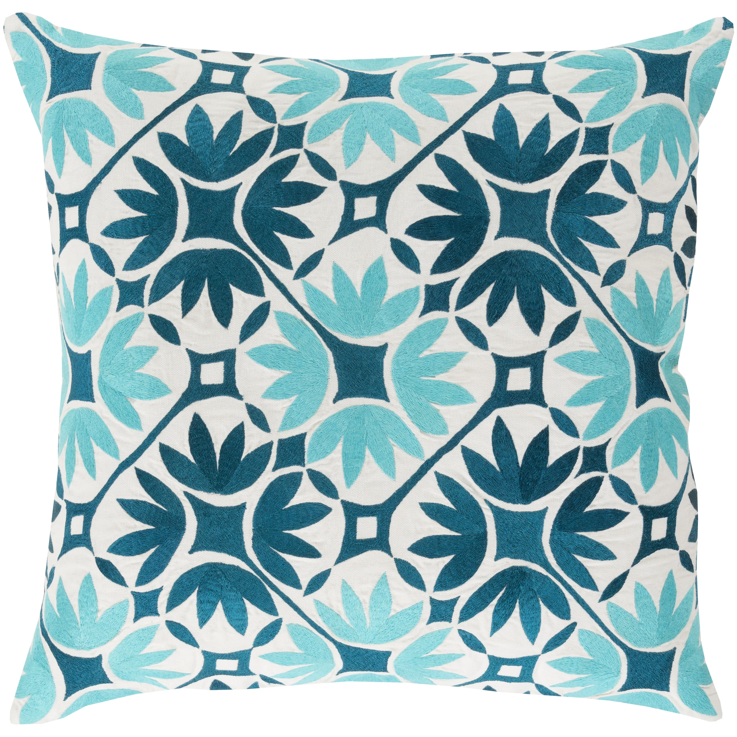 Decorative Carole Floral 22-inch Throw Pillow (Down)