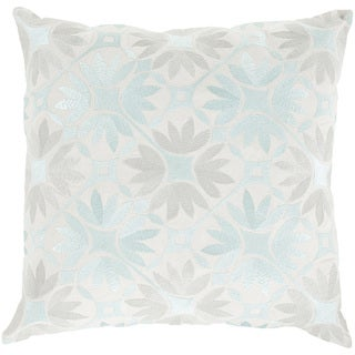 Decorative Carole Floral Feather Down or Polyester Filled 22-inch Throw Pillow