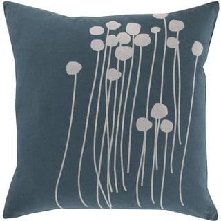 Copper Grove Anamalai Floral 18-inch Blue Throw Pillow