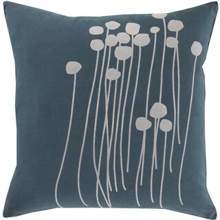 The Gray Barn Windy Oaks Floral 18-inch Blue Throw Pillow