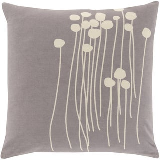 Decorative Carlie Down or Polyester Filled Floral 18-inch Throw Pillow