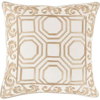 Kirsten Geometric Feather Down Filled or Poly Filled 22-inch Throw Pillow