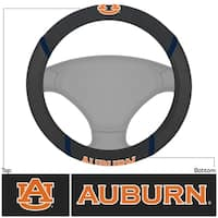 Fanmats Auburn Tigers Black Fabric Steering Wheel Cover
