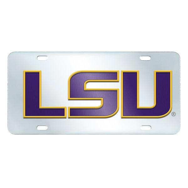 Fanmats LSU Tigers Collegiate Acrylic License Plate Inlaid