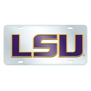 Fanmats LSU Tigers Collegiate Acrylic License Plate Inlaid