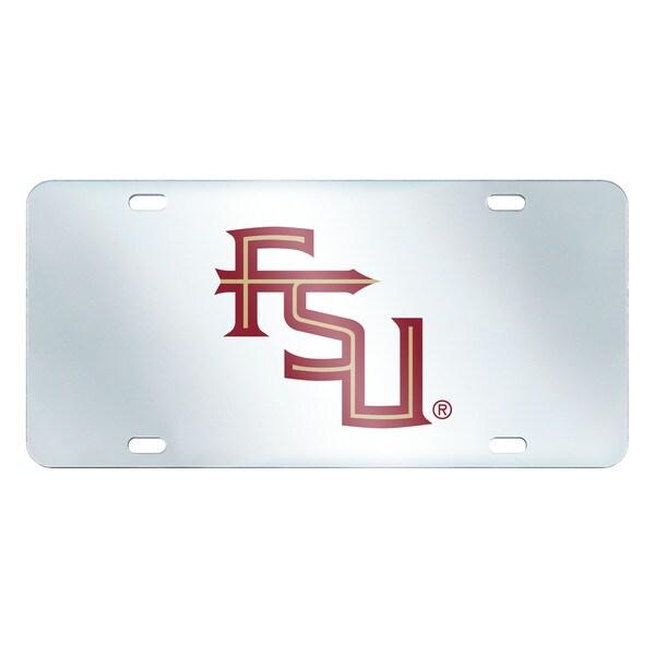 Fanmats Florida State Seminoles Collegiate Acrylic License Plate Inlaid