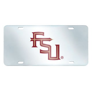 Fanmats Florida State Seminoles Collegiate Acrylic License Plate Inlaid