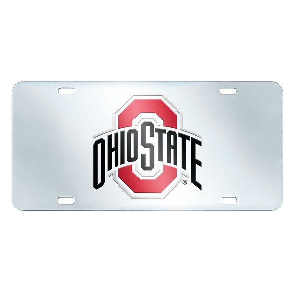 shop fanmats ohio state buckeyes collegiate acrylic license plate