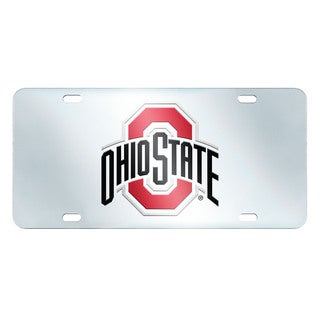 Fanmats Ohio State Buckeyes Collegiate Acrylic License Plate Inlaid