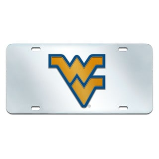 Fanmats West Virginia Mountaineers Acrylic Collegiate License Plate Inlaid