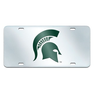 Fanmats Michigan State Spartans Collegiate Acrylic License Plate Inlaid