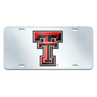 Fanmats Texas Tech Raiders Collegiate Acrylic License Plate Inlaid