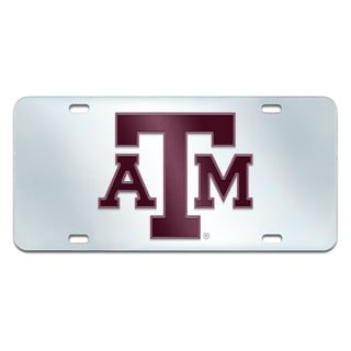 Fanmats Texas A&M Aggies Collegiate Acrylic License Plate Inlaid