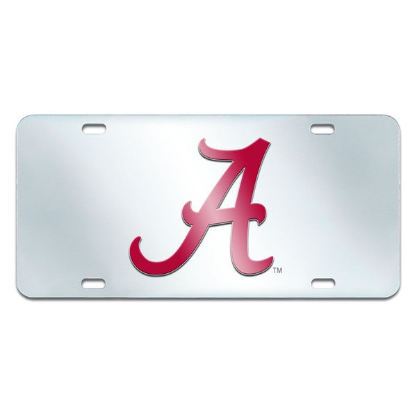 Fanmats Alabama Crimson Tide Collegiate Acrylic License Plate Inlaid