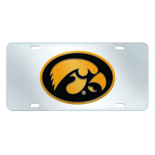 Fanmats Iowa Hawkeyes Collegiate Acrylic License Plate Inlaid