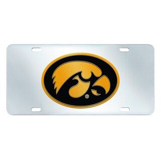 Fanmats Iowa Hawkeyes Collegiate Acrylic License Plate Inlaid