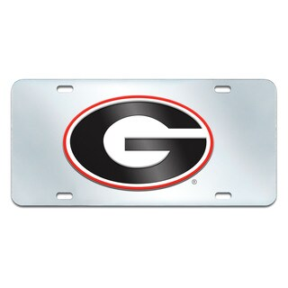 Fanmats Georgia Bulldogs Collegiate Acrylic License Plate Inlaid