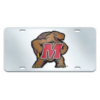 Fanmats Maryland Terrapins Collegiate Acrylic License Plate Inlaid