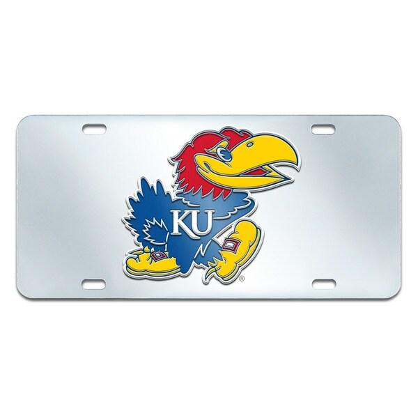 Fanmats Kansas Jayhawks Collegiate Acrylic License Plate Inlaid
