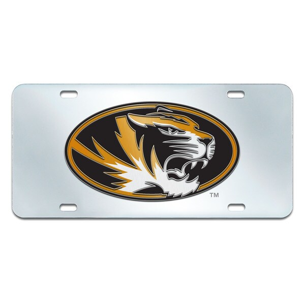 Fanmats Missouri Tigers Collegiate Acrylic License Plate Inlaid