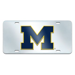 Fanmats Michigan Wolverines Collegiate Acrylic License Plate Inlaid