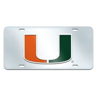 Fanmats Miami Hurricanes Collegiate Acrylic License Plate Inlaid