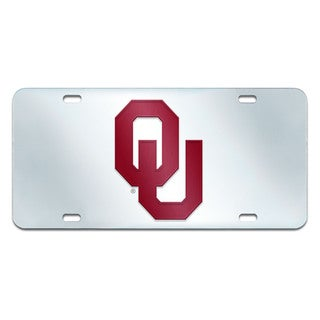 Fanmats Oklahoma Sooners Collegiate Acrylic License Plate Inlaid